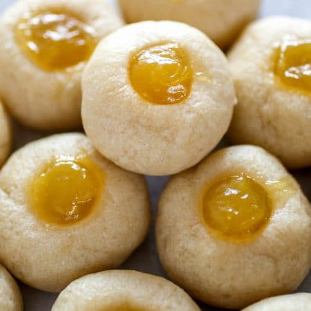 Lemon-Lime Thumbprint Cookies - You'll find sweet, tart and tangy flavors in these delicious little cookies made with homemade lemon-lime curd!
