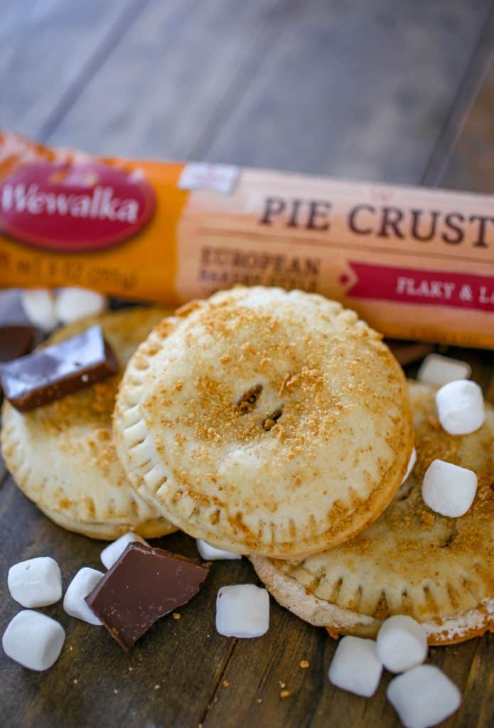 S'mores Hand Pies - These gooey s'mores hand pies are a fun take on a traditional s'more!