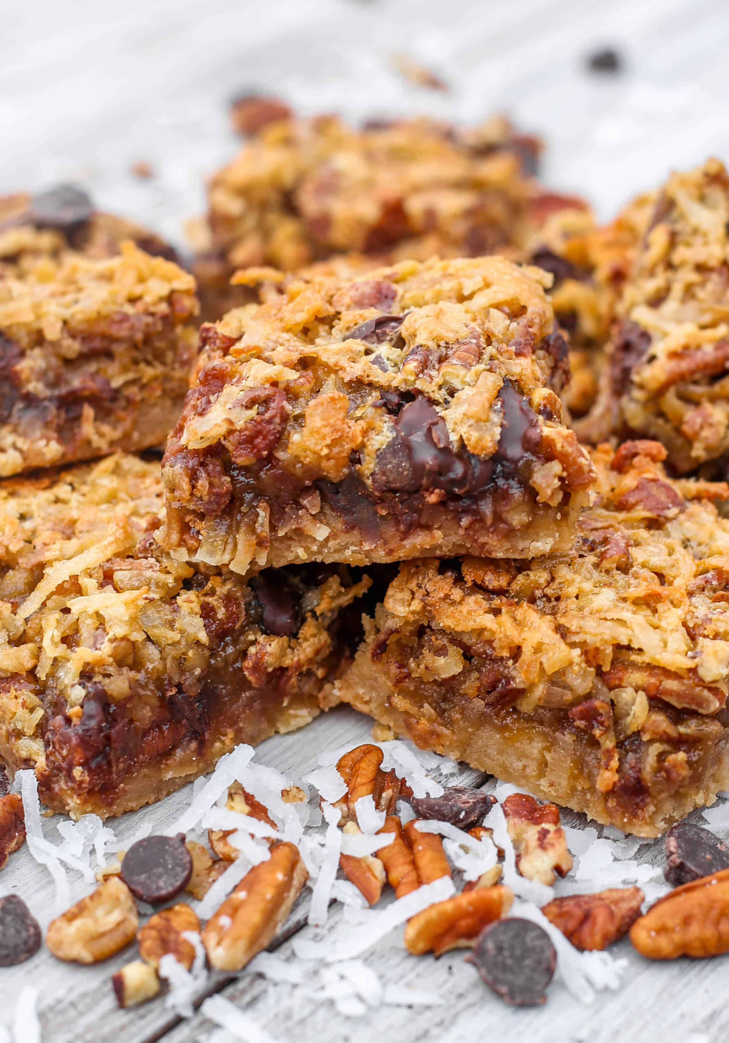 Coconut Dream Bars - These soft and chewy Coconut Dream Bars are super easy, perfectly chewy and chock full of coconut, pecans, dark chocolate, and brown sugar.