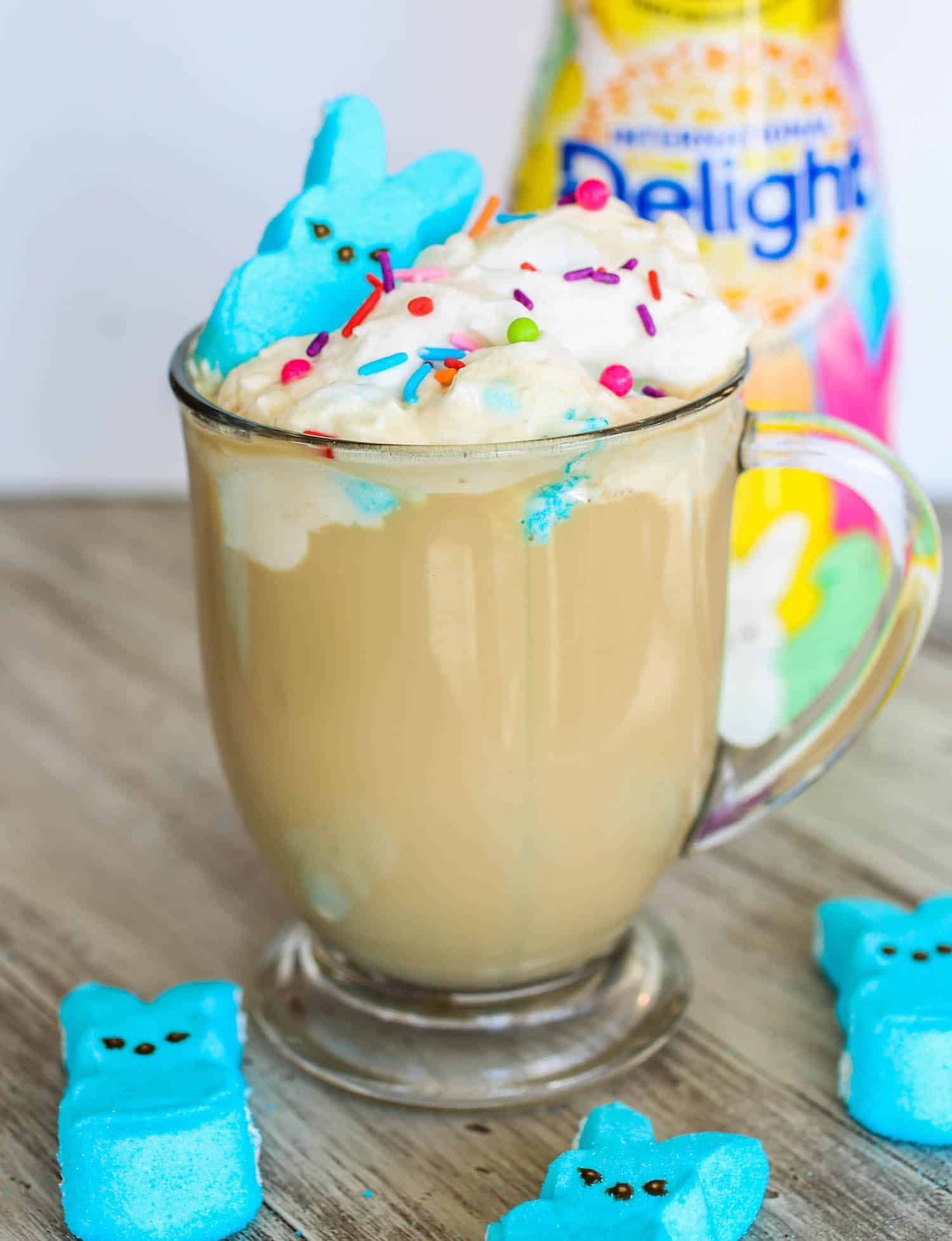 Vanilla Marshmallow Latte with Homemade Marshmallow Whipped Cream - Sprinkle Some Sugar