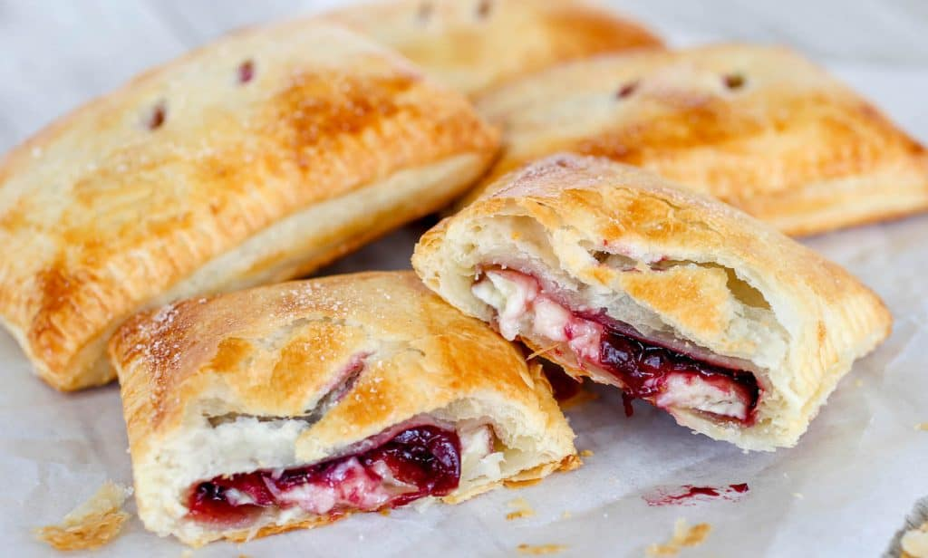 Cherry and Brie Puff Pastry Pockets - Sprinkle Some Sugar
