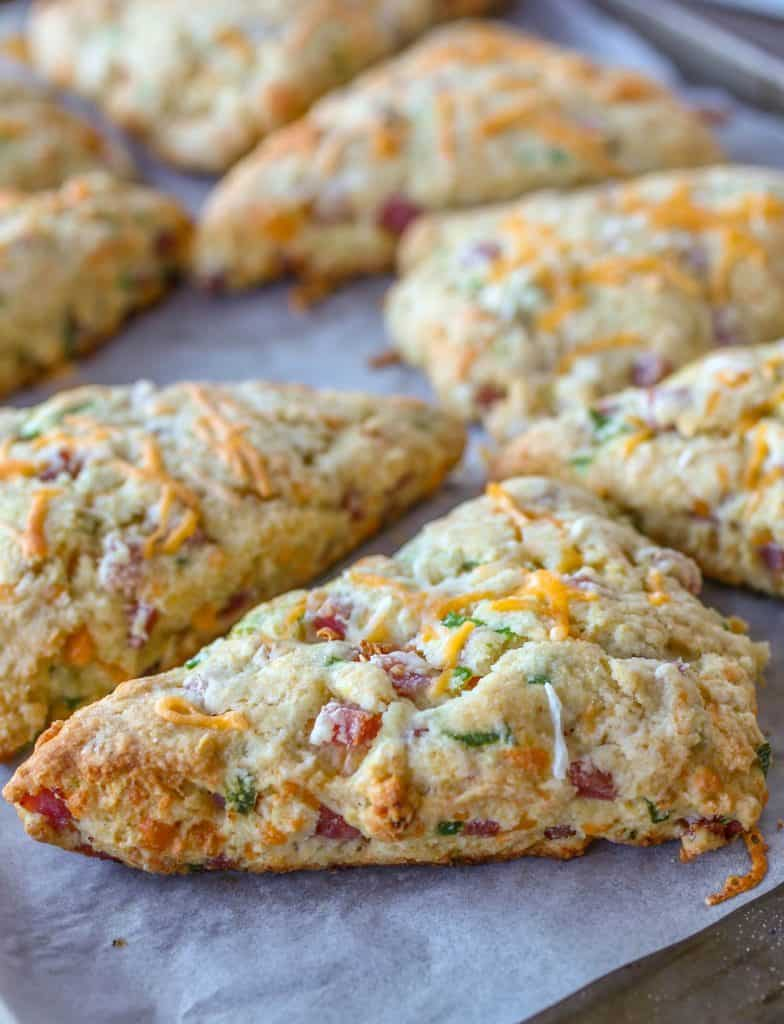 Hatfield Ham and Cheese Scones - Sprinkle Some Sugar