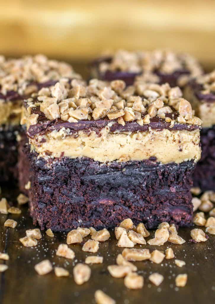 Buckeye Toffee Brownies - Sprinkle Some Sugar