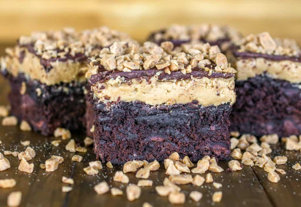 Buckeye Toffee Brownies - Sprinkle Some Sugar