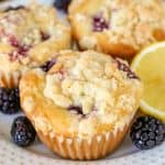 Blackberry Lemon Crumb Muffins