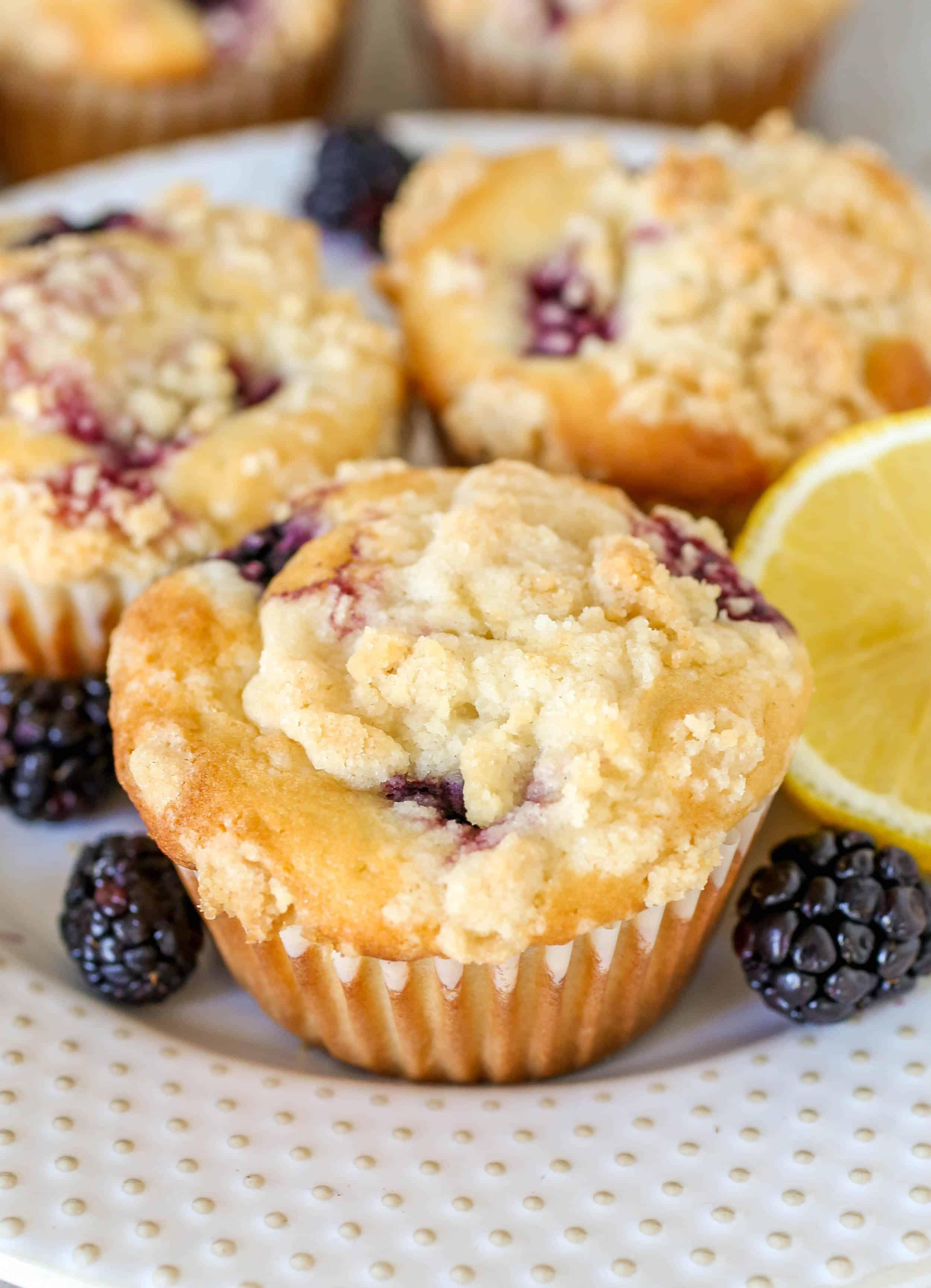 Blackberry Lemon Muffins - Sprinkle Some Sugar