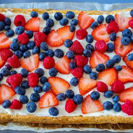 Mixed Berry Lemon Cream Cheese Tart - Sprinkle Some Sugar