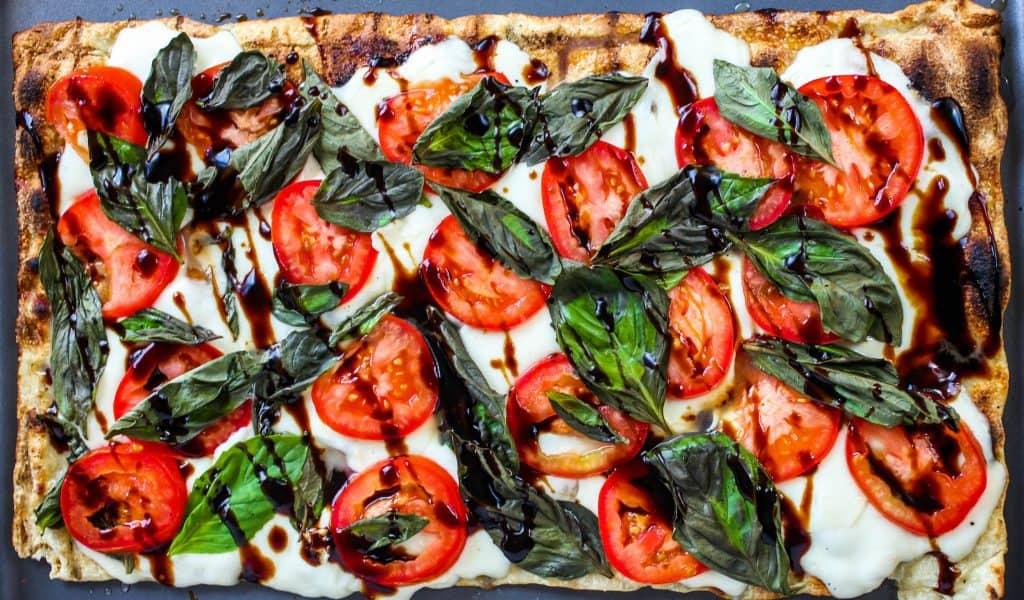 Grilled Caprese Flatbread - Sprinkle Some Sugar