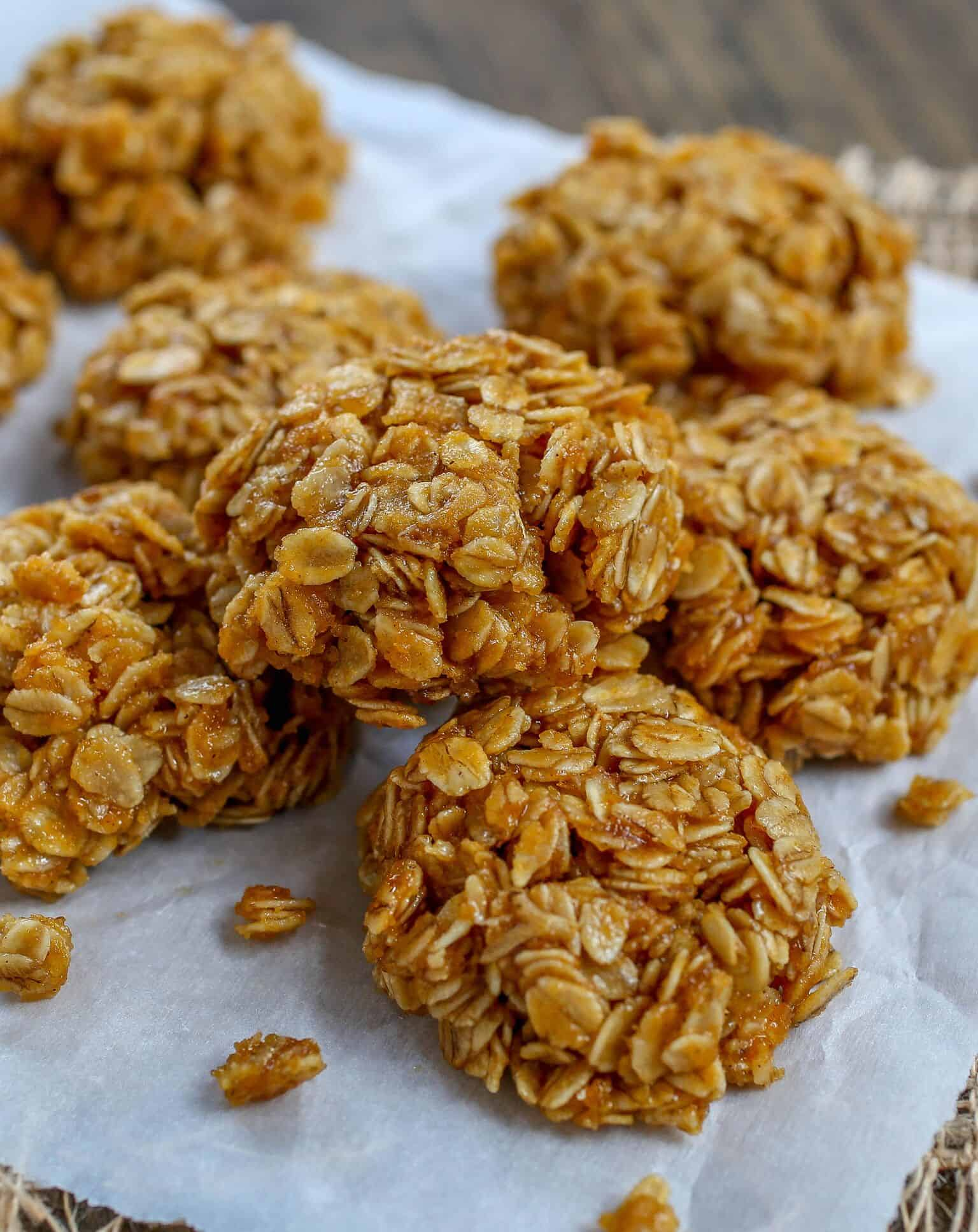 No-Bake Pumpkin Spice Cookies - Sprinkle Some Sugar