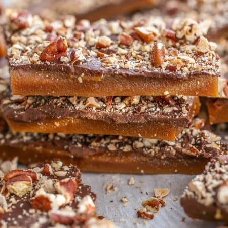Dark Chocolate Butter Toffee - Sprinkle Some Sugar