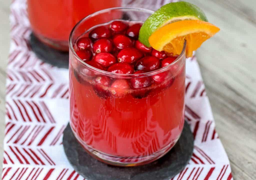 Sparkling Cranberry Fruit Punch - Sprinkle Some Sugar