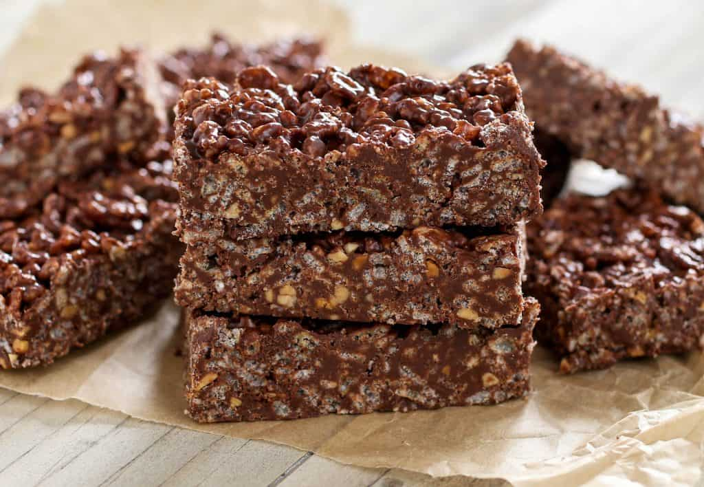 Peanut Butter Crunch Squares - Sprinkle Some Sugar