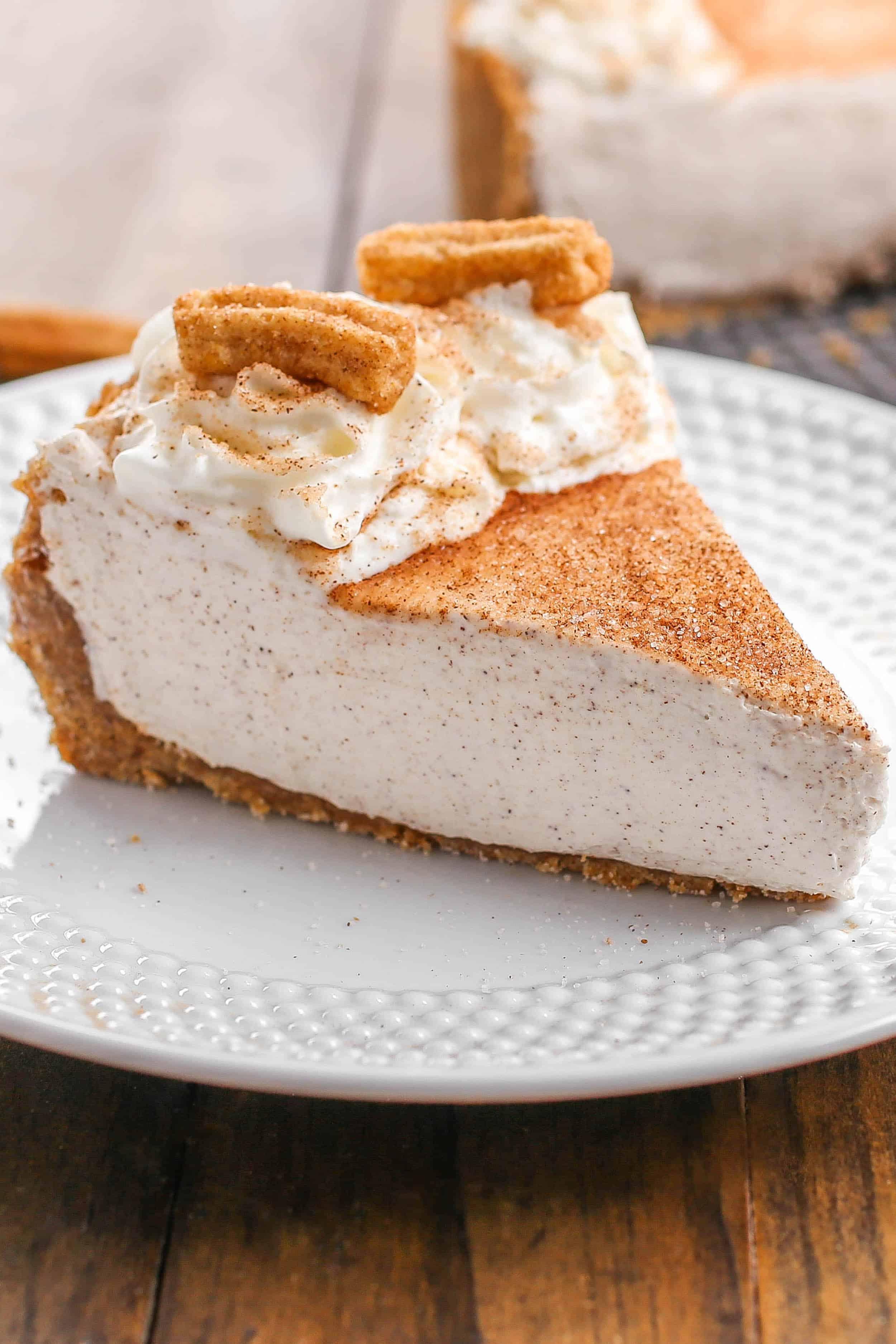 No-Bake Churro Cheesecake - Sprinkle Some Sugar