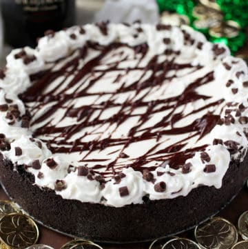 No-Bake Bailey's Cheesecake - Sprinkle Some Sugar